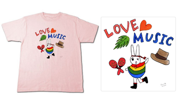 Tシャツデザイン love music☆