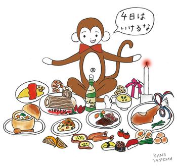 ダニエル サル いたずら テナガザル さる ゆるキャラ かわいい キャラクター ストレス解消 クリスマス イブ パーティ 料理 食料調達
