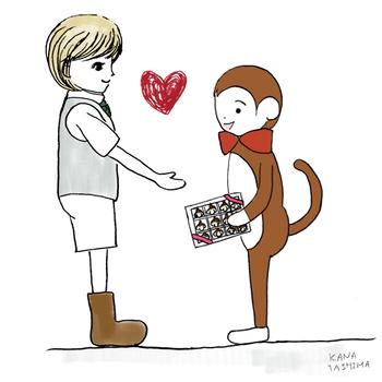 さる ゆるキャラ キャラクター ダニエル チョコレート バレンタイン プレゼント 女性に人気