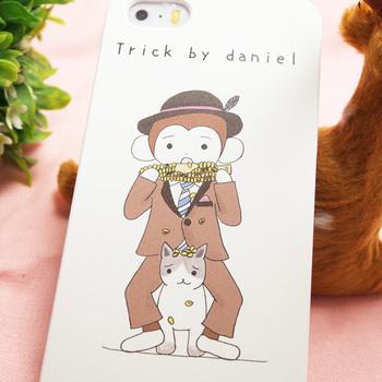 さるのダニエル iPhoneケース 5、5Sケース