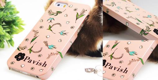 Pavish ピンクすずらん iPhoneケース