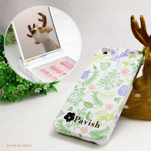 Pavish ミラー付きiPhoneケース Power Of Botanical