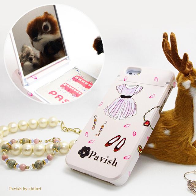 Pavish ミラー付きiPhoneケース 恋愛運アップ ピンクの幸せ