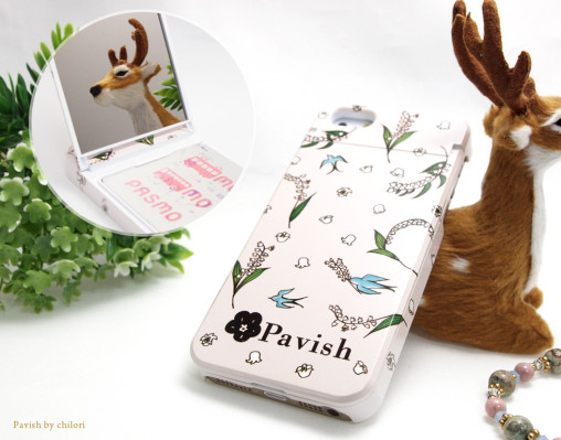 Pavish ミラー付きiPhoneケース