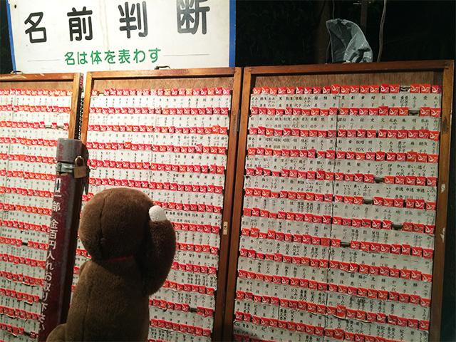 日枝神社に初詣に行くさるのダニエル 名前おみくじ