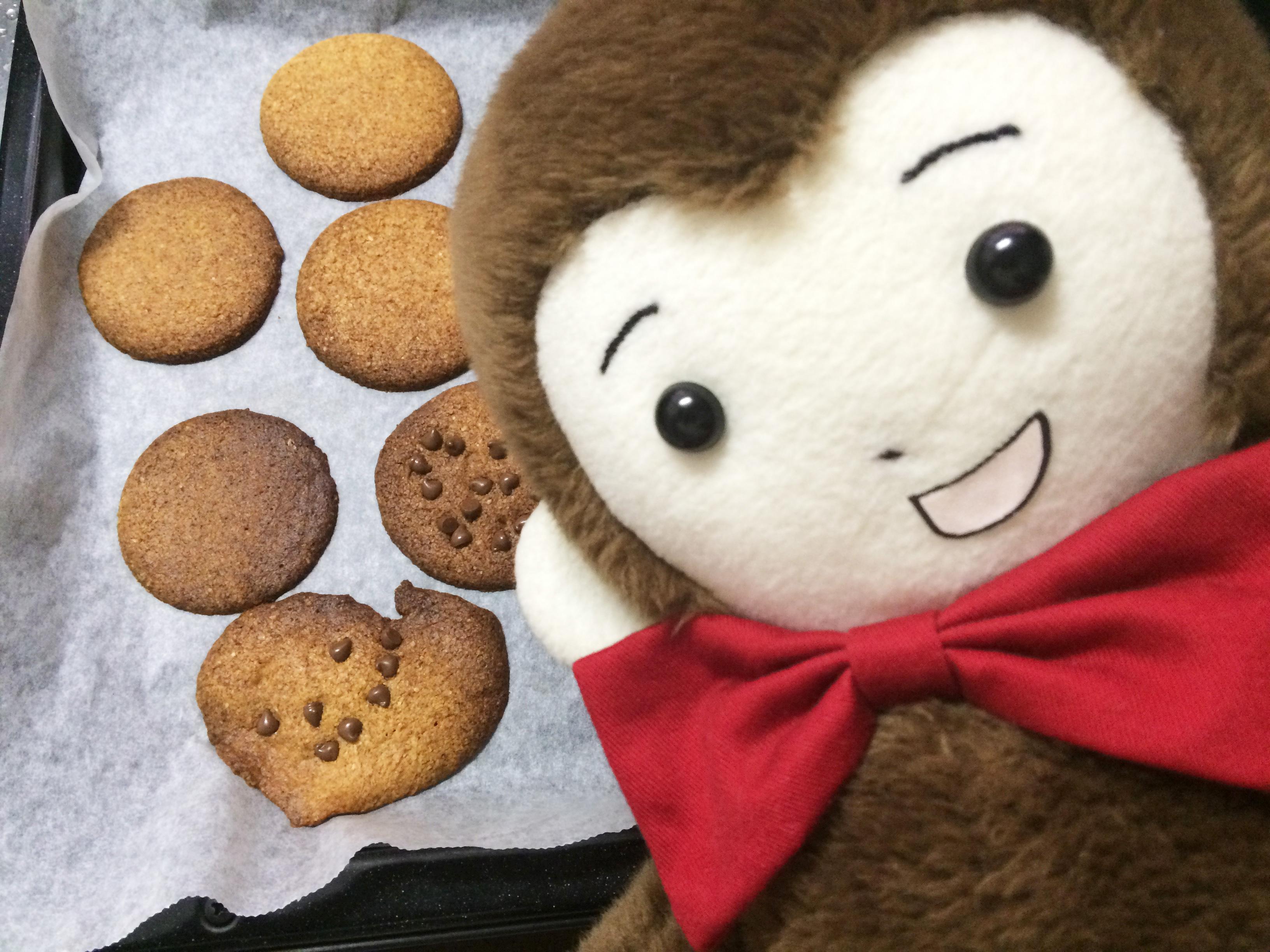 ホワイトデーにおばけのクッキーを焼くさるのダニエル