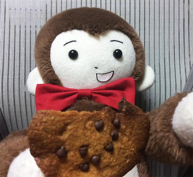おばけクッキーとさるのダニエルの写真