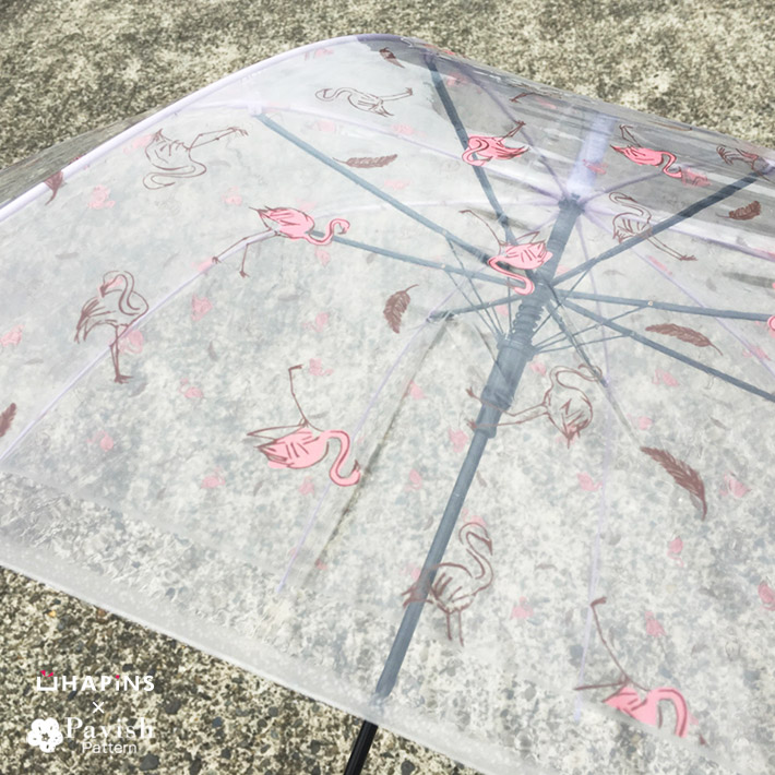 HAPiNSコラボビニール傘 フラミンゴ柄【Pavish Pattern】