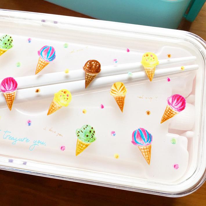 HAPiNSコラボランチボックス アイスクリーム柄【Pavish Pattern】